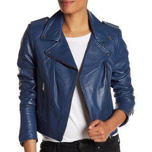 🌼 NWOT LAMARQUE 'Donna' lamb leather moto jacket